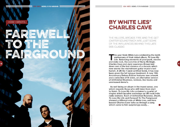 How I wrote 'Farewell To The Fairground' by White Lies