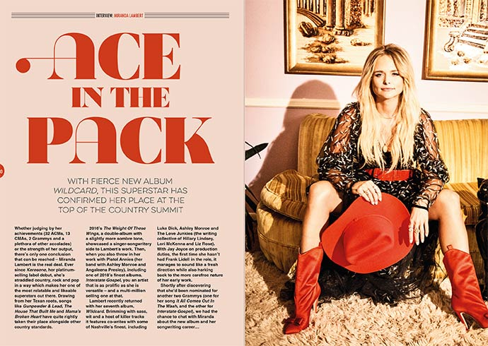 Miranda Lambert in Songwriting Magazine