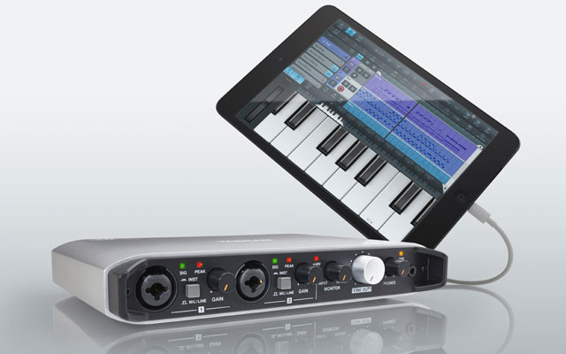 tascam releases usb interface for ios songwriting magazine. Black Bedroom Furniture Sets. Home Design Ideas