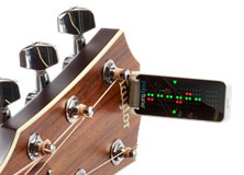 The world's first polyphonic clip-on guitar tuner