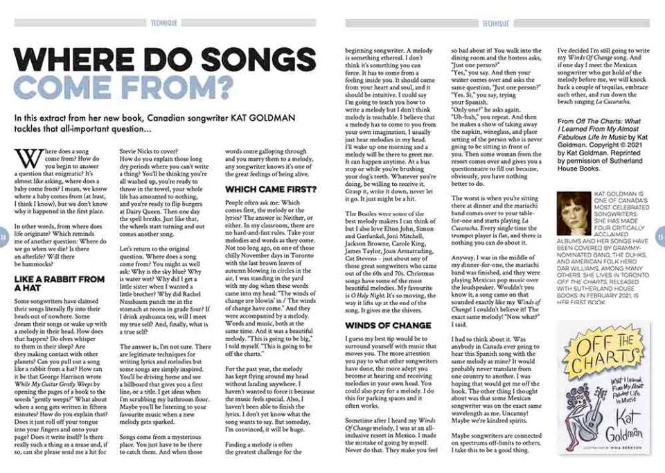 Where do songs come from? by Kat Goldman