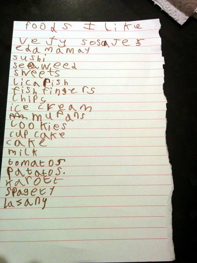 Write a list song