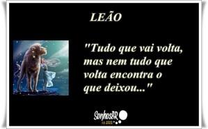 Signo de Leão – Frase