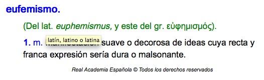 Definición de Eufemismo