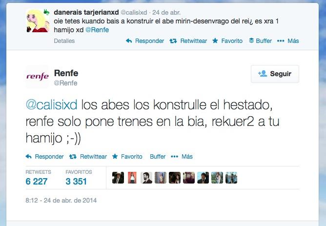 Tuit CM Renfe