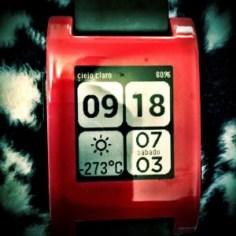 Watchface de Pebble