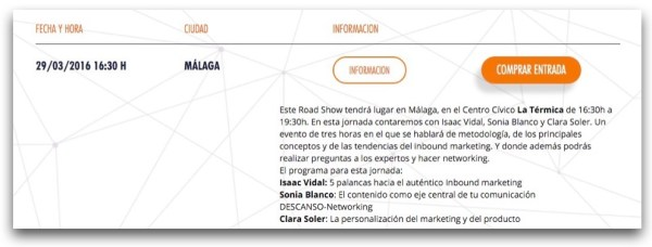 The Inbounder Roadshows: Málaga