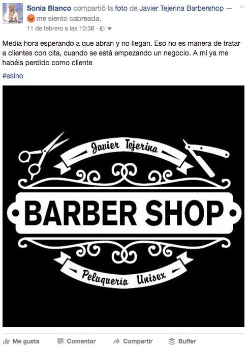 Publicación sobre Javier Tejerina Barber Shop