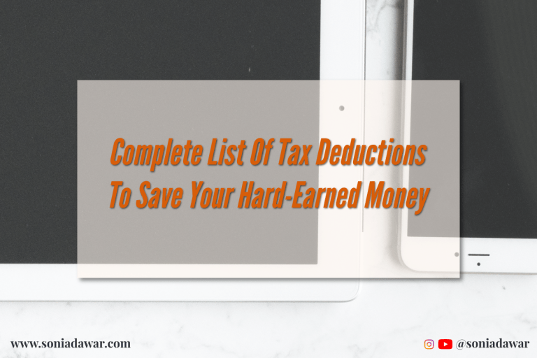 Read more about the article Complete list of tax deductions to save your hard-earned money.
