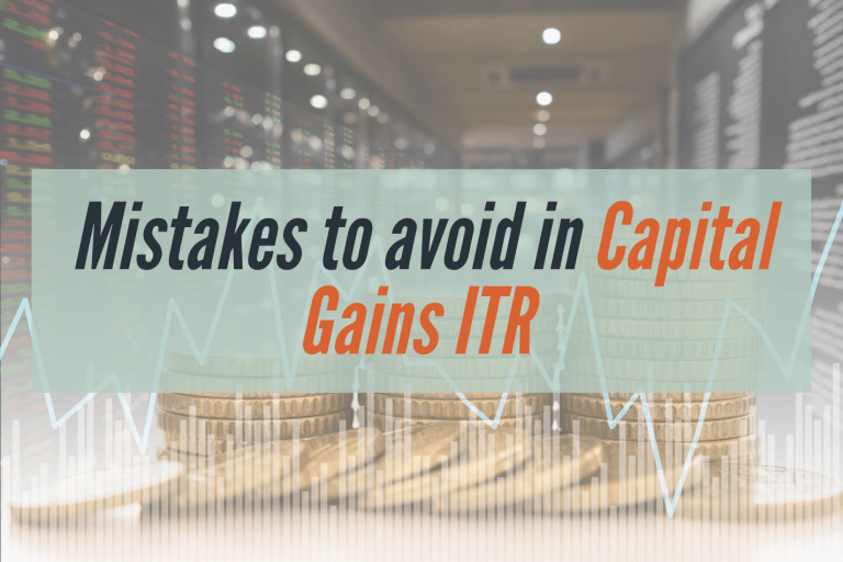 Read more about the article Mistakes People Make While Filing Income from Capital Gains