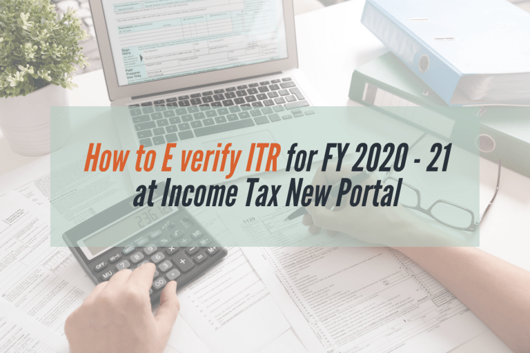 Read more about the article How to e-verify last year's Income Tax Return on New Income tax portal
