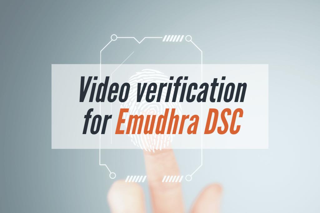 video for emudhra DSC