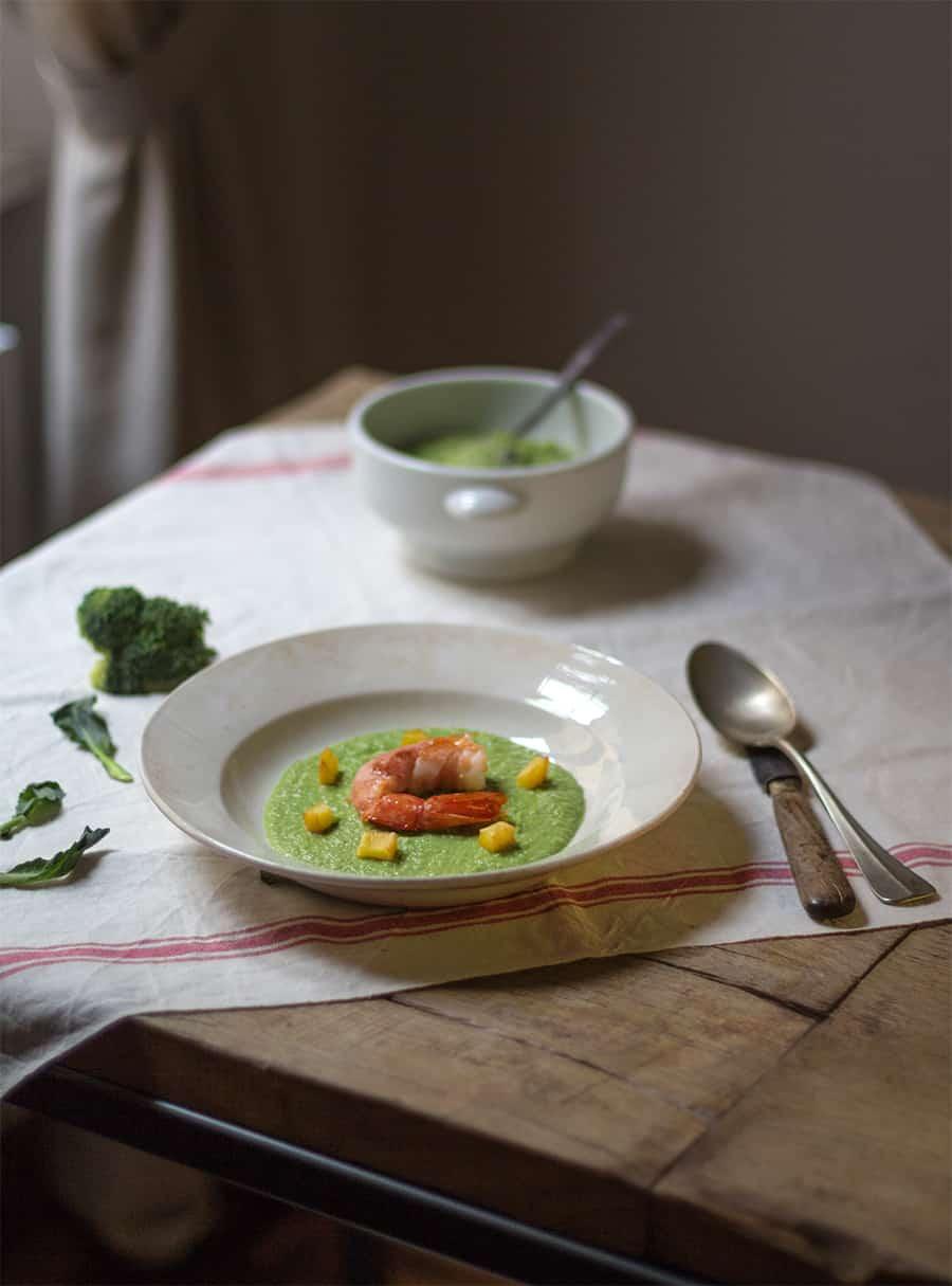broccoli gamberi prosciutto