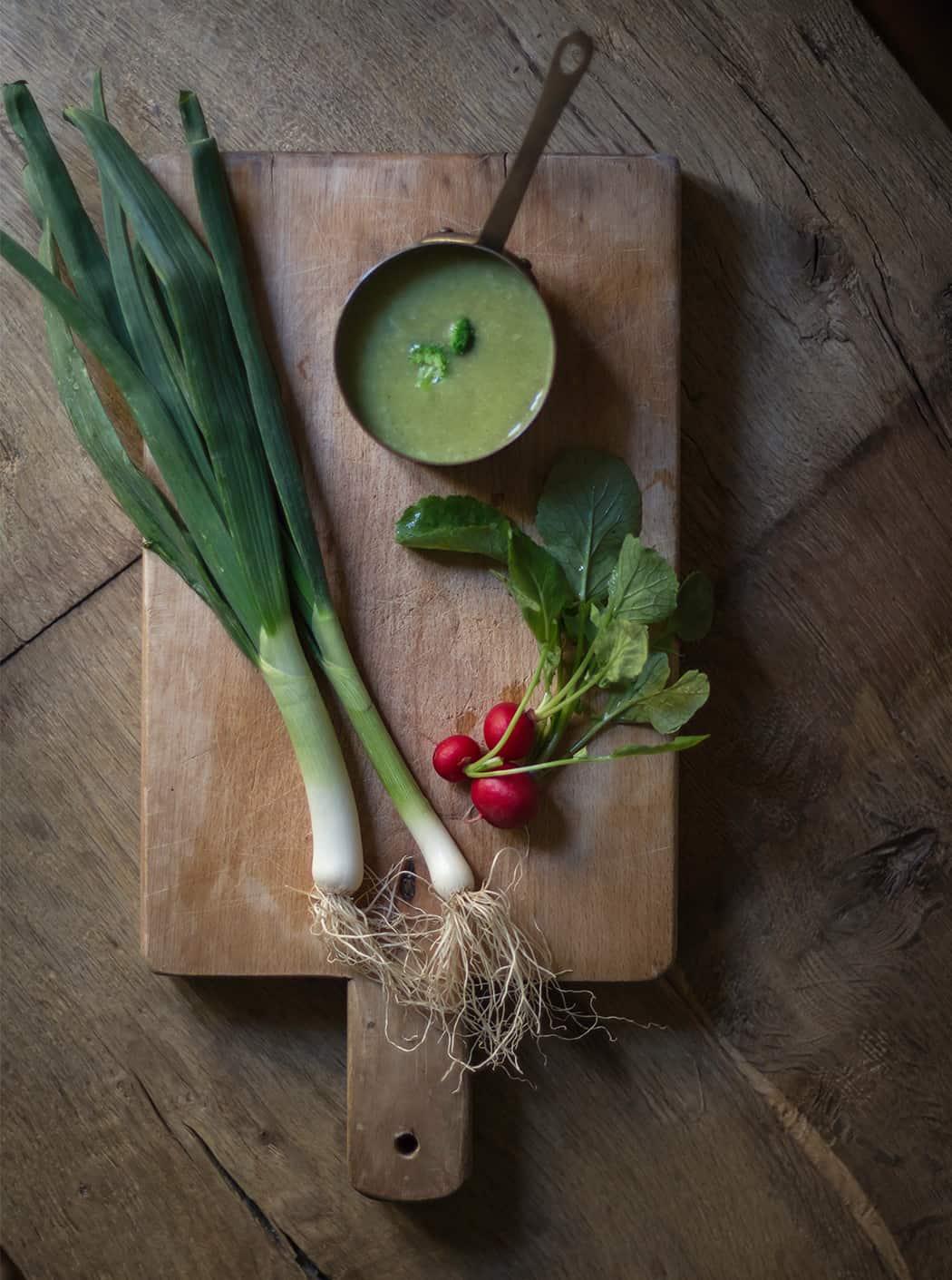 crema di porri e broccoli