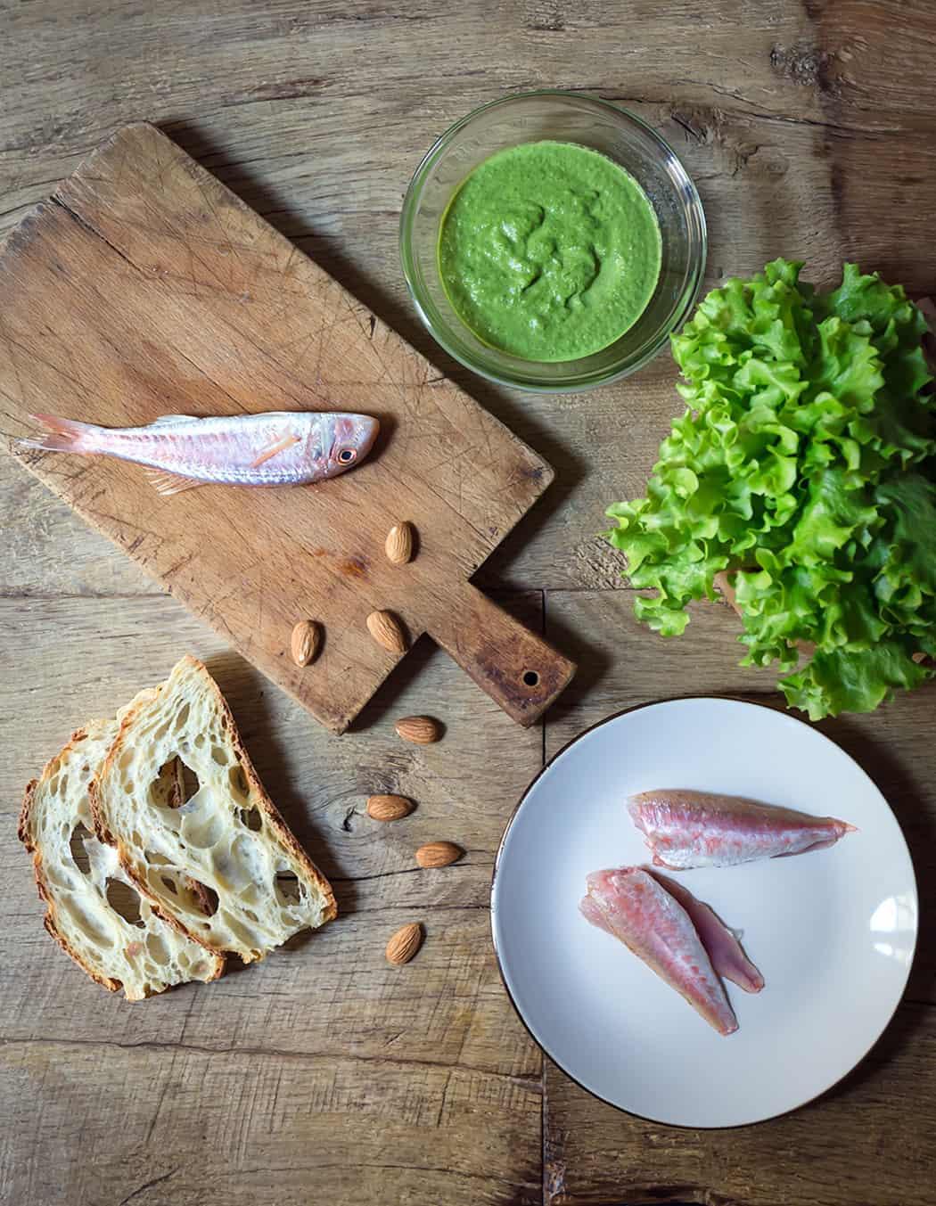 ricetta triglie con insalata Lusia