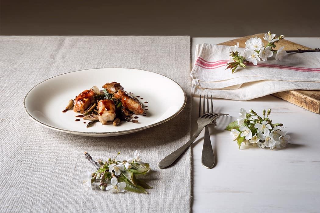 ricetta involtini con pancetta all'aceto balsamico