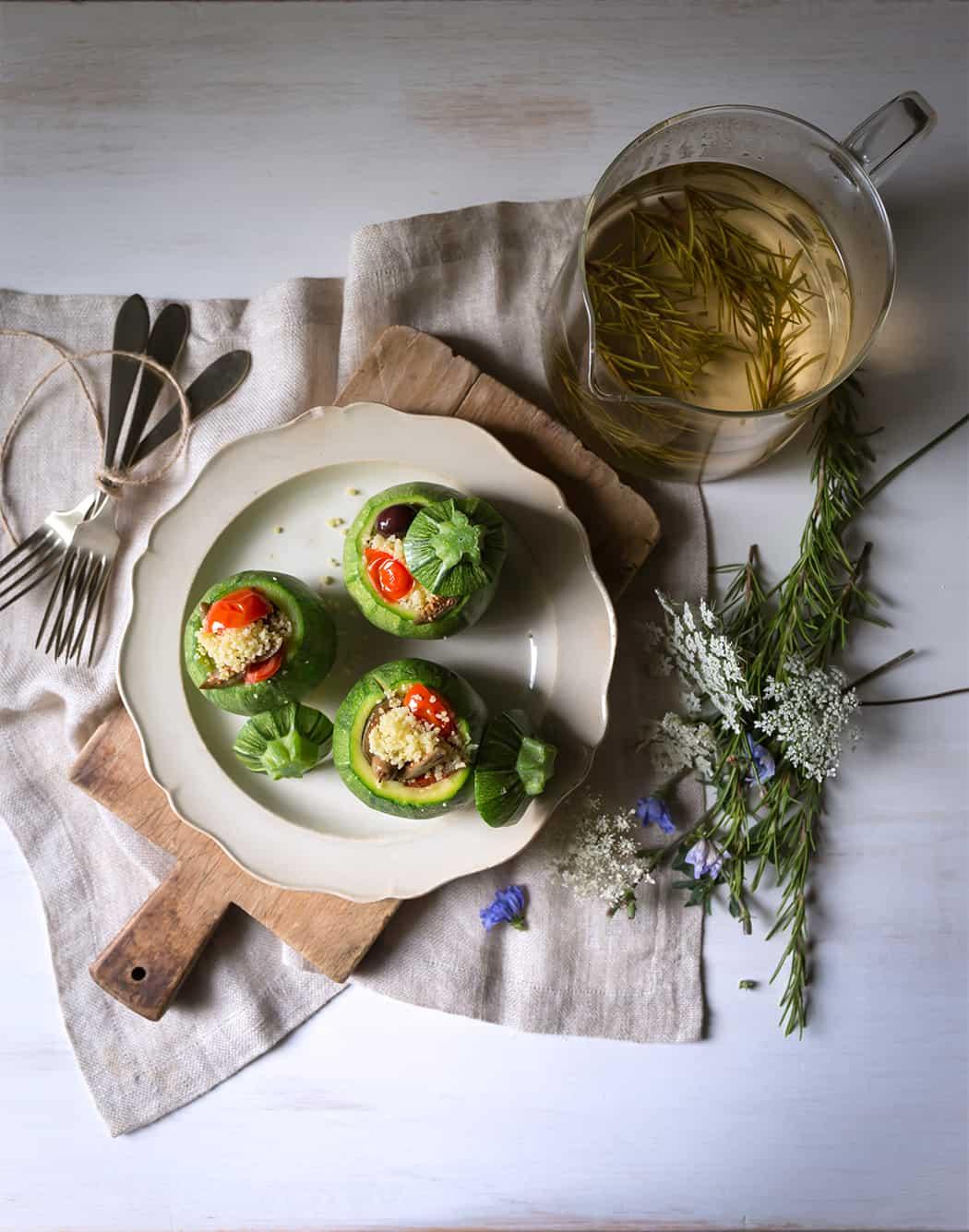 ricette cous cous con zucchine tonde ripiene