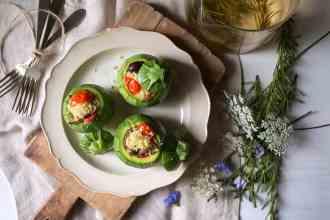 ricetta cous cous con zucchine tonde ripiene