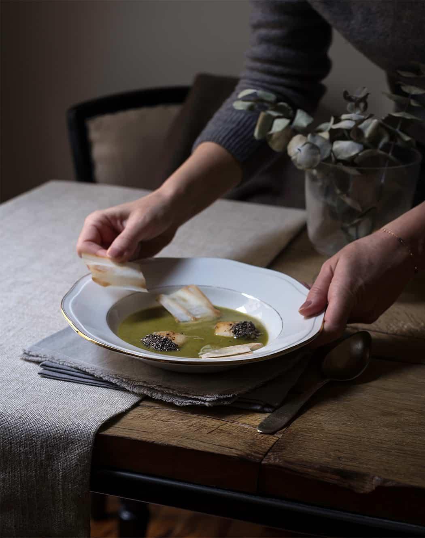 ricette crema di zucchine con capesante e pasta fillo