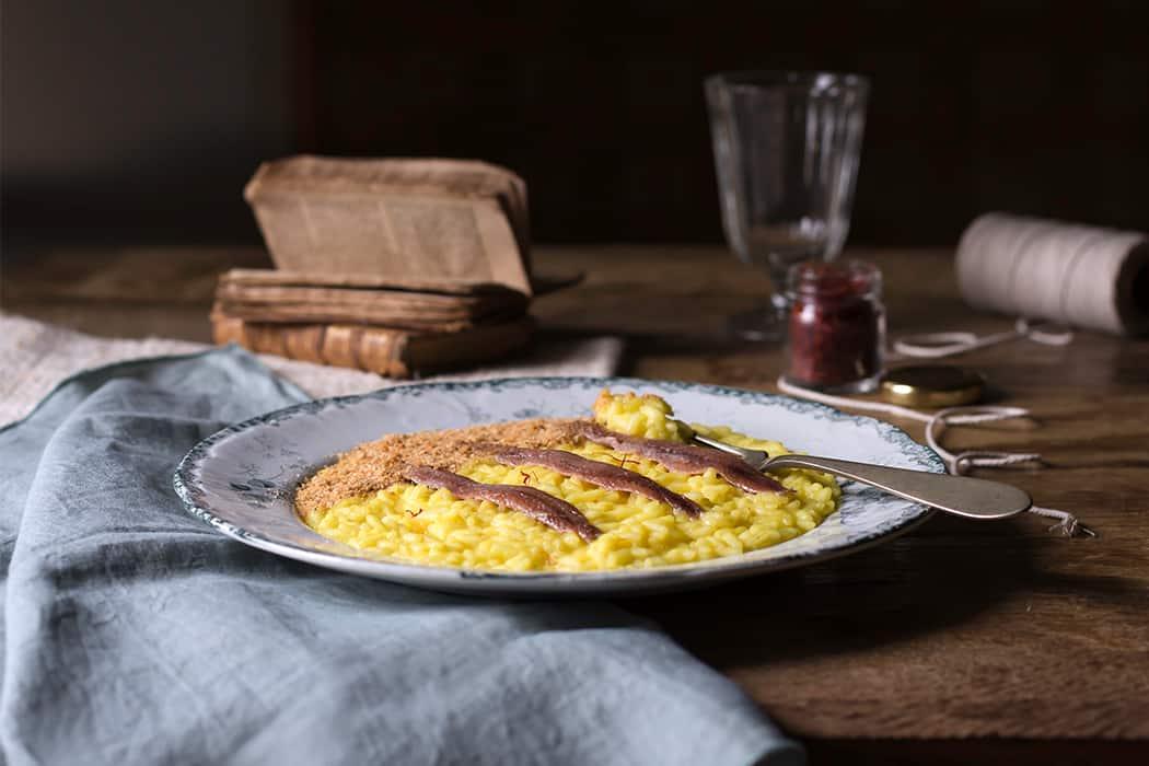 ricette risotto con alici Cantabrico