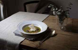 ricette zuppe con zucchina menta e capesante