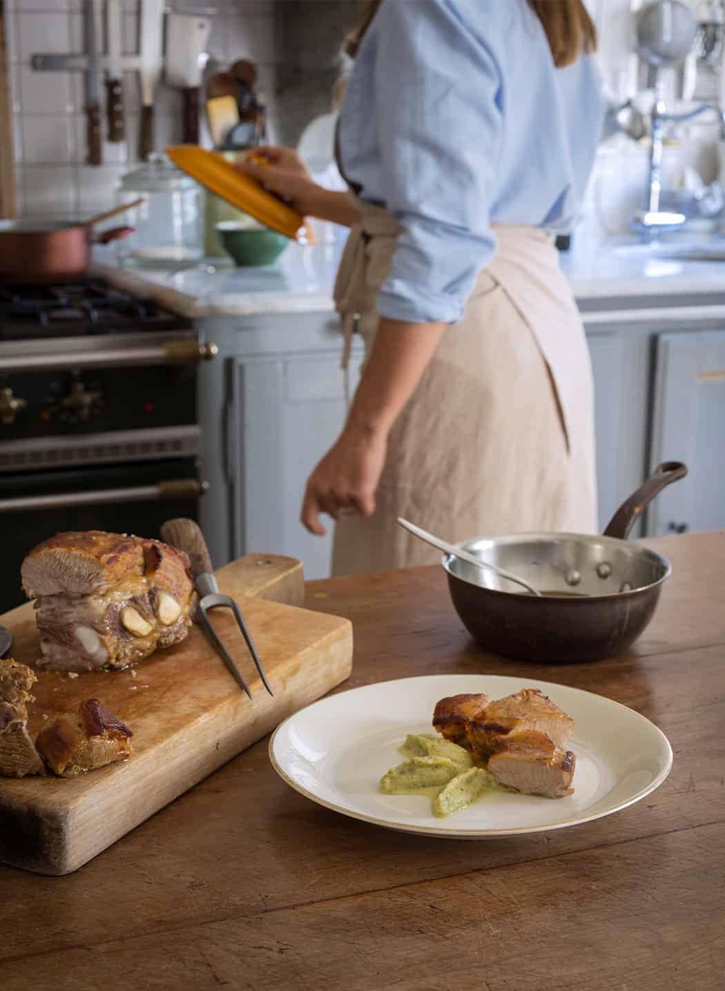 vitello al forno con zucchine trifolate