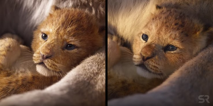The Lion King Trailer Differences Baby Simba Sonic 102 9