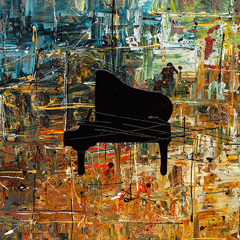 online piano lessons, online music lessons, piano abstract art