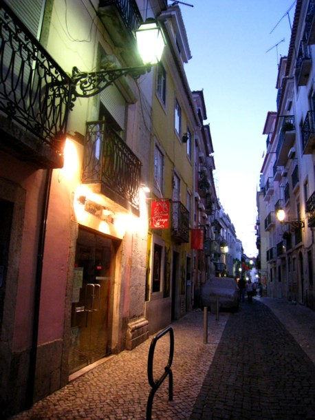 Evening in the Bairro Alto, Lisbon
