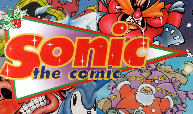 Sonic the Comic xmas poster