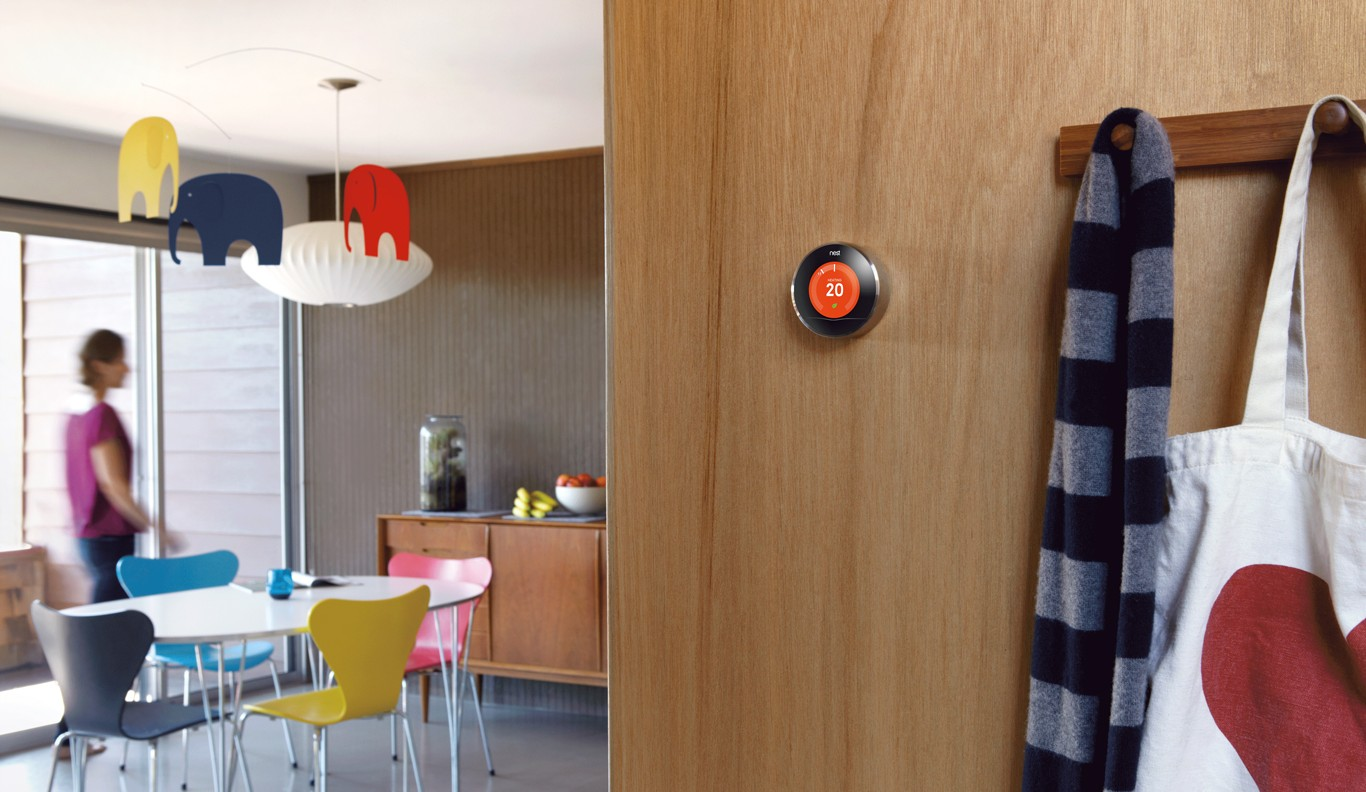 Nest Smart Thermostat Wall-Mounted Lifestyle, Smart Thermostats, Heating Control, Home Automation Heating, Nest Smart Thermostats, Climate Control, Smart Thermostat