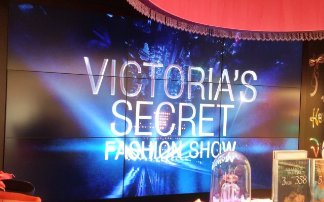 victoria's secret video wall