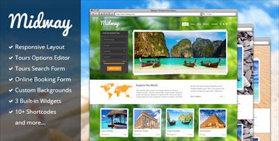 midway responsive travel wordpress theme