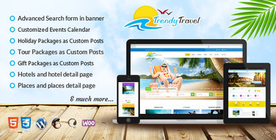trendy travel wordpress theme