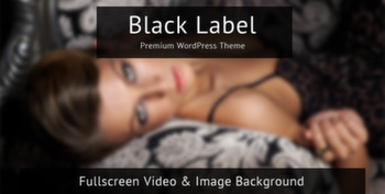 Black Label Fullscreen Video and Image Background