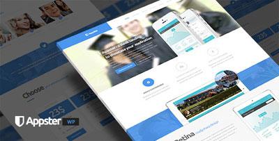 Appster Clean Minimal App Landing Page WordPress