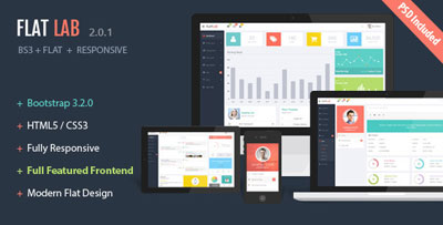FlatLab Bootstrap 3 HTML admin Template