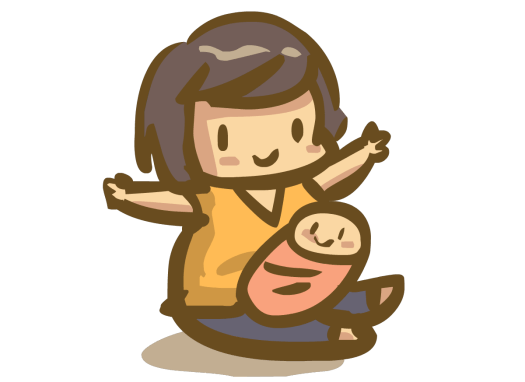 Learning Japanese kanji woman