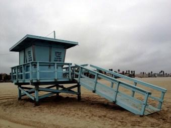 Erstes Baywatch-Strand-Häuschen