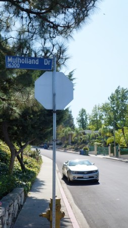Unser Camaro am Mulholland Drive