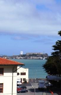 Erster Blick auf Alcatraz Island