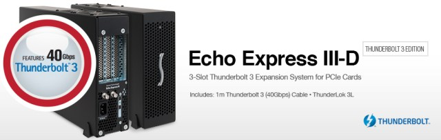 Echo Express III-D - Thunderbolt 3 Edition: Thunderbolt 3 Expansion System for PCIe Cards