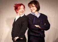 """Sonni Maier und Monika Bylitza in """"Bitte wenden!"""", Bewerbungstraining als interaktive Impro-Theater-Show."""