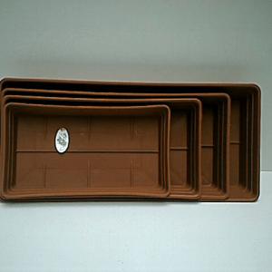 01-0038 Schotel rechthoekige bruine eetbak 25 cm