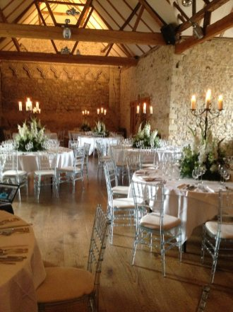Medieval themed flowers at Notley Abbey