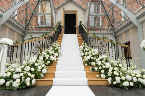 Botleys Mansion Staircase Flowers