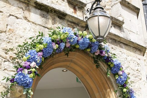 Entrance flowers at Notley abbey