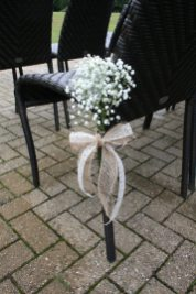 Gyp chair ties outdoor ceremony at Silchester House