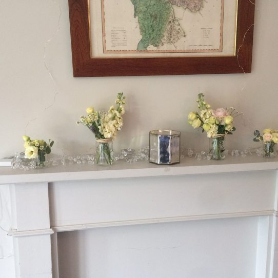 Mantelpiece flowers