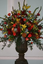Large Statement Urn Autumn Colours